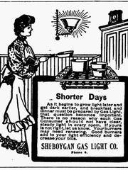 Wisconsin Gas Light ad.