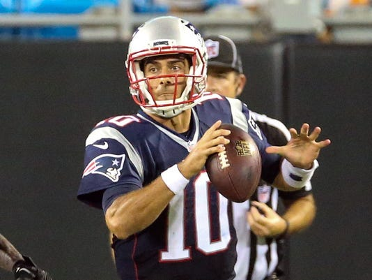 USP NFL: PRESEASON-NEW ENGLAND PATRIOTS AT CAROLIN S FBN USA NC