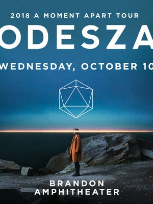 Odesza plays the Brandon Amphitheater on Oct. 10. Tickets go on sale Friday, May 4, at 10 a.m.