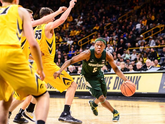 NCAA Basketball: Michigan State at Iowa