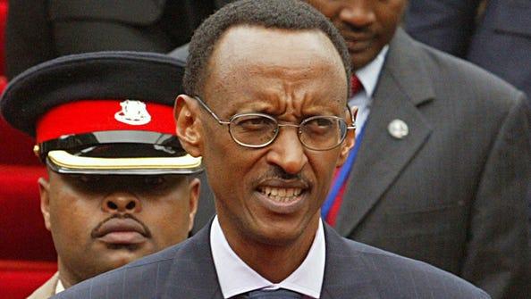 Rwandan president Paul Kagame during a conference in Nairobi, Kenya, in 2007.