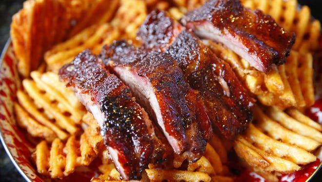 Jethro's rib taster showcases the barbecue at this Drake restaurant.