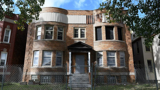 253 and 257 Marston Street in Detroit. The property was bought in 2016 by Garlin Gilchrist II from the Detroit Land Bank Authority.