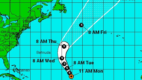Tropical Storm Ian formed over the Atlantic on Monday morning.
