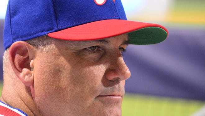 Sounds manager Steve Scarsone is 151-138 in two seasons with Nashville.