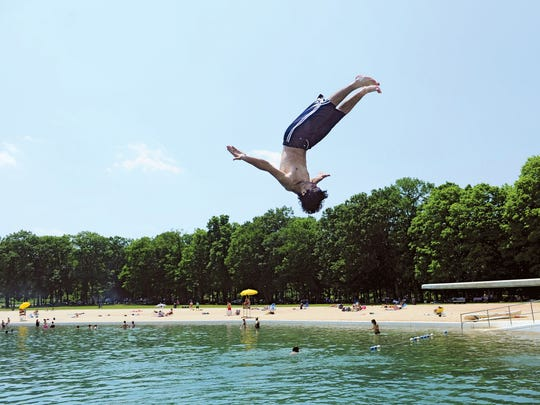 How cool is it to flip off a diving board to cool off swimming at Darlington County Park in Mahwah? Very!