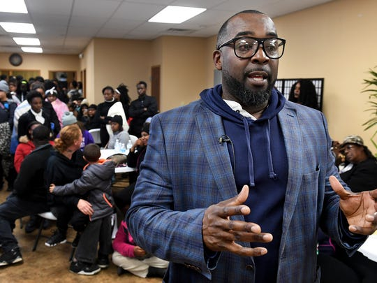 Pastor Undrae Johnson gave an update to the media about the on-going investigation at Haywood High School after a meeting with school officials, Tuesday, December 5.