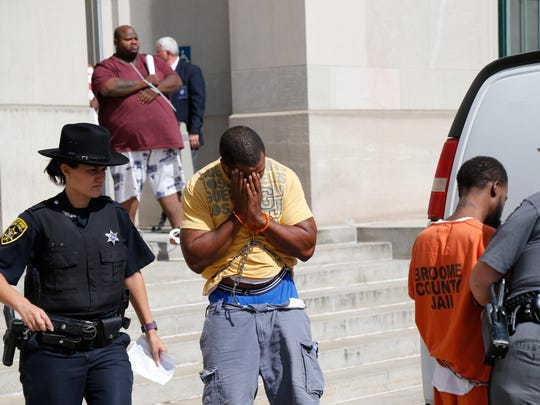 Following Wednesday's drug raids, defendants are brought