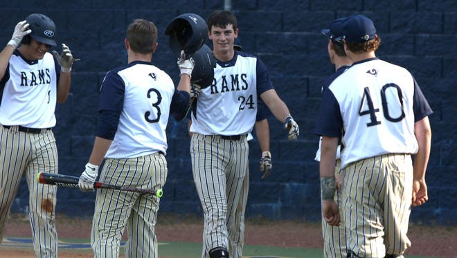Roberson junior Garrett Blaylock (24) is the Mountain Athletic Conference Baseball Player of the Year.