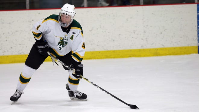 St. Norbert College senior Blake Thompson is one of eight defensemen that returned from last year's NCAA Division III national runner-up team.