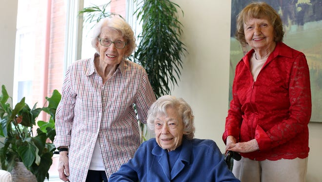 Janet Stankwytch, Irene Coburn and Lola Stanton were employees at Atomic City, where they made the parts to the bomb in the 1940s.