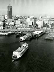 The ferry Hyak in 1968, a year after joining the Washington