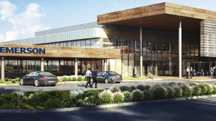 This rendering shows the new headquarters and labs for InSinkErator in Mount Pleasant. The Racine company announced the $34 million plans at a news conference Thursday.