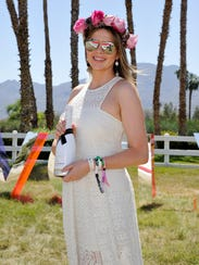 TV personality Carly Steel attends the REVOLVE Desert