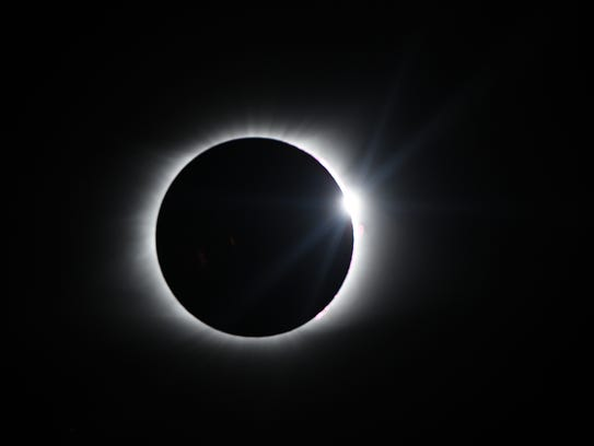 The diamond ring effect during the total solar Eclipse