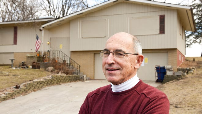 Don Landwehr talks Monday, March 20, about what is next for his property on Longview Drive in St. Cloud.