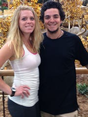 Haylie Peterson, left, and her former fiance, Sergio
