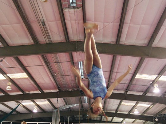 Jordan Misha works out at Extreme Air Sports in Estero.