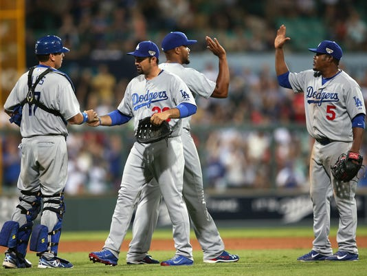 AP Australia Baseball Dodgers Diamondbacks