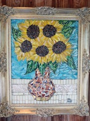 The mosaic donated to Heathcote by Anita Prentice,
