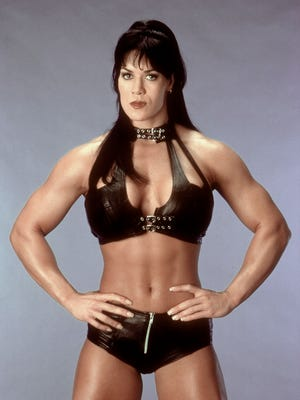 Photo of Chyna taken in 1999. The pro-wrestler was found dead in her apartment on Wednesday.