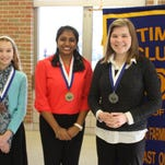 Students shine in speech contest