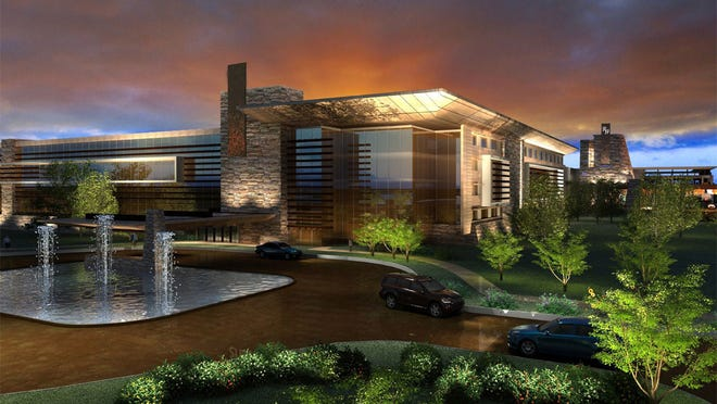 An artist's rendering of the proposed $350 million Wilmot Casino & Resort planned for Tyre, Seneca County.