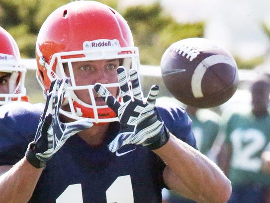 UTEP senior wide receiver Cole Freytag performs short