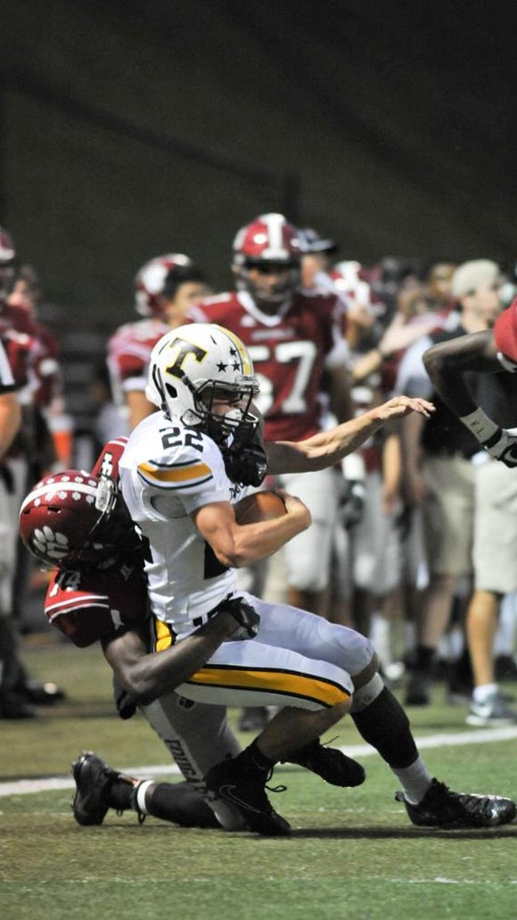 Asheville defeted Tuscola 30-16, on Friday, October 6, 2017. MIKE RICE/Citizen-Times