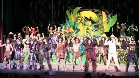 "Lourdes Academy high school musical students perform ""Tarzan"" in 2014."