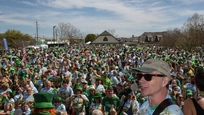 Last year, about 12,000 people participated in the McGuire's St. Patrick's Day Prediction5K Run. The festive event returns for its 41st year on Saturday.