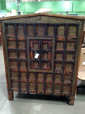 This antique Tibetan storage cabinet realized $170 at auction