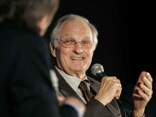 "Alan Alda starred as a U.S. Senator with eyes on the White House in the 1979 film ""The Seduction of Joe Tynan."" Here Alda is interviewed by Rolling Stone's Peter Travers after the NY Film Critics screening of ""Nothing But The Truth"" in 2008."