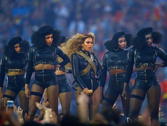 Beyoncé performs during Super Bowl 50's halftime show