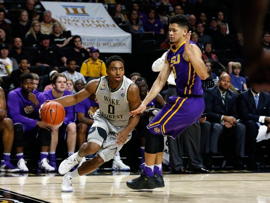 NCAA Basketball: Louisiana State at Wake Forest
