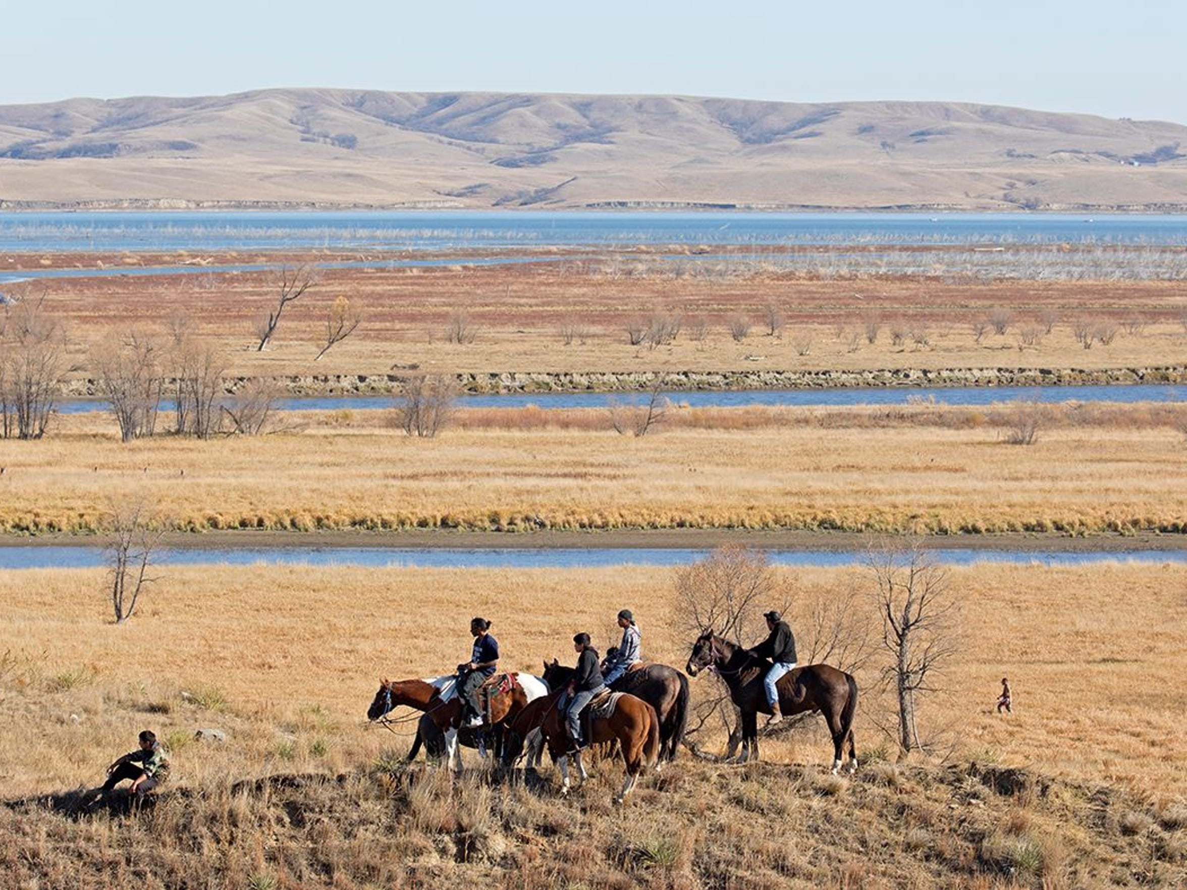 Near The Standing Rock Sioux Tribe Reservation in North