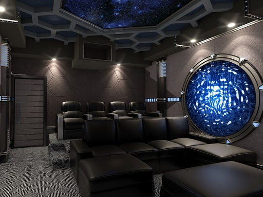 """This home theater was designed with the """"Stargate"""""""