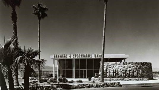 The Farmers & Stockmens Bank was designed in 1951.