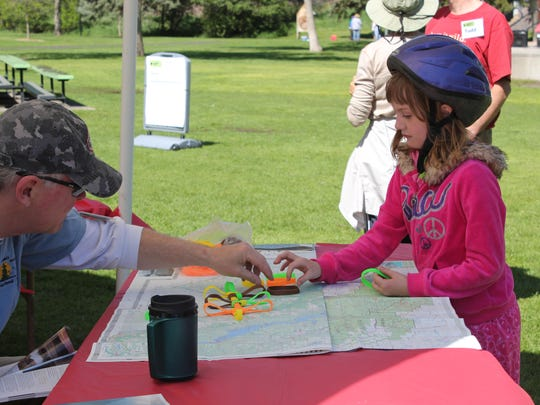 A young participant in National Trails Day in Great