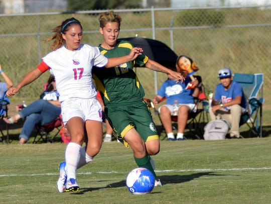Pictured are players from the Las Cruces and Mayfield High School girls' soccer teams. The Centers for Disease Control and Prevention reports that traumatic brain injury accounts for 9 percent of all high school sports injuries, with athletes in boys' football and girls' soccer as the most at risk.