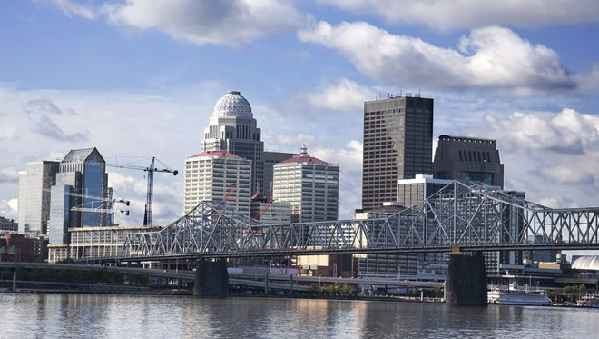 Skyline of Louisville, Ky. (File, The Courier-Journal)