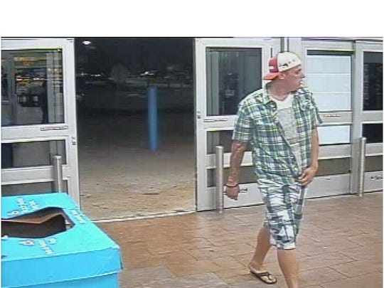 Cape Coral police are looking for this man who they say stole a TV and two Xbox controllers.