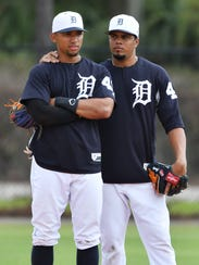 Dixon Machado and Jeimer Candelario