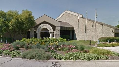 City of Dublin Criminal Justice Center, which also houses the city police department, at 6565 Commerce Parkway.