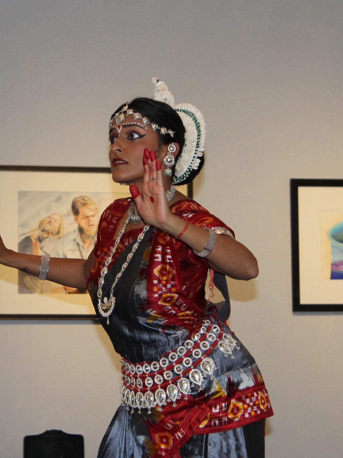 A dancer from the Indian Association of Dance performs