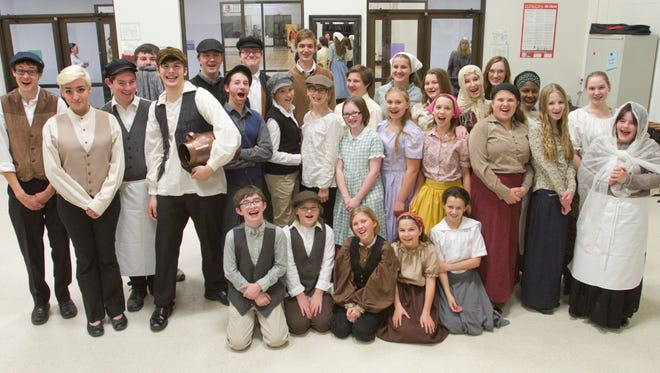 """The cast of Charyl Stockwell Preparatory Academy's production of """"Fiddler on the Roof"""" readies for the school's upcoming show."""