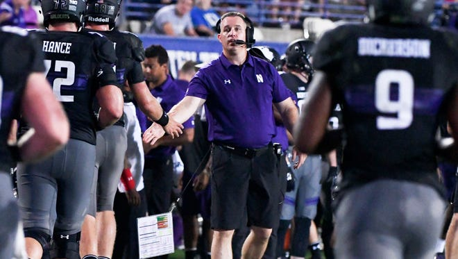 Northwestern coach Pat Fitzgerald's team got a confidence boost against Bowling Green, but Wisconsin will provide a tougher test.