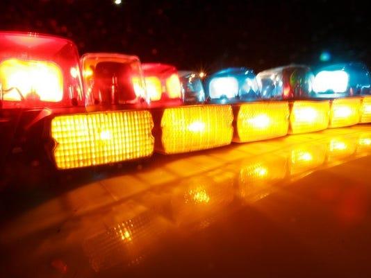 police headlights