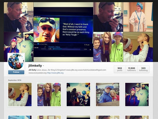 Jill Kelly's Instagram page on Sept. 13, 2014.