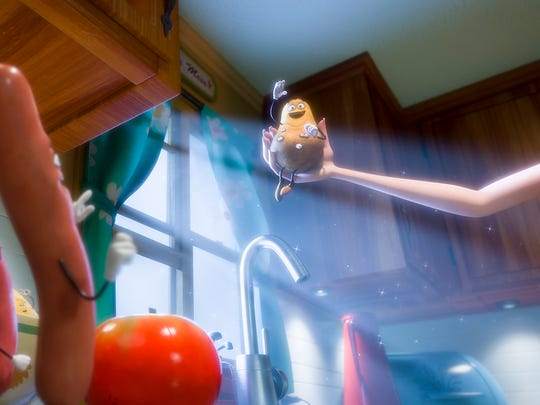 """In """"Sausage Party,"""" every  item in the store lives in the hope that one day they will be selected by the gods — humans doing their shopping — to go to the Great Beyond."""